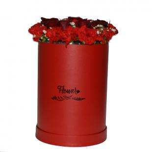 Carton fleur cylindre moyen