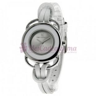 Montre - Ted Lapidus - Bracelet Cuir Blanc A0365Rbnf