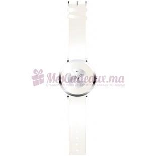 Montre - Ted Lapidus - Bracelet Cuir Blanc A0384Rbnf