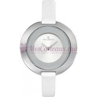 Montre - Ted Lapidus - Bracelet Cuir Blanc A0437Rbnf