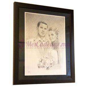 Portrait 50 X 65 Cm  - Pour couple
