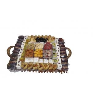 Assiette rectangulaire Fakia