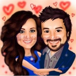 Caricatures Digitales pour couple