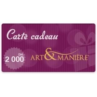 Bon d'achat 2000 Dhs - Art & Manière