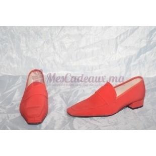 Chaussures française tissu et cuir