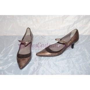 Chaussures italiennes cuir  et lin
