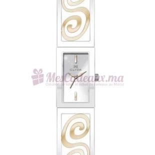 Montre - Clyda De Paris - Bracelet Doré Métal Rhodié Cld0450Bbiw