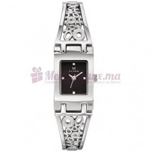 Montre - Clyda De Paris - Bracelet en Rhodium Cld0453Rnpw