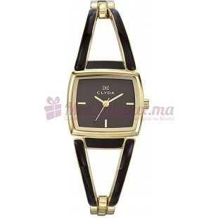 Montre - Clyda De Paris - Bracelet Marron Acier Clg0090Bmiw