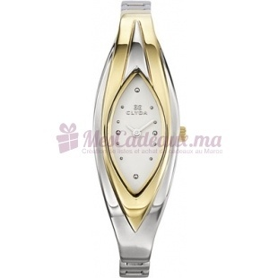 Montre - Clyda De Paris - Bracelet Doré Métal Rhodié Clh0040Bbpw