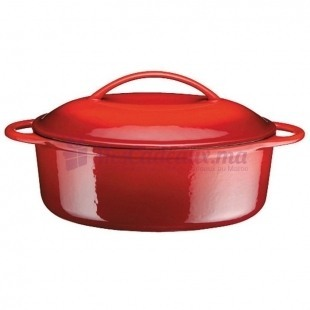 Cocotte rouge ovale