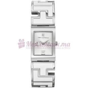 Montre - Ted Lapidus - Bracelet Métal Rhodié Blanc D0476Rbax