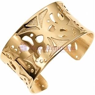 Bracelet Manchette Doré Ajouré Motif Fleurs - Ted Lapidus D11019D