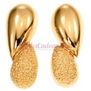 Boucles D'Oreilles Granite - Plaqué Or - Ted Lapidus