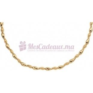 Collier Chaine Gouttes D'Eau - Plaqué Or - Ted Lapidus D43010