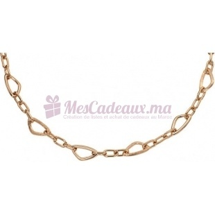 Collier Chaine Granite - Plaqué Or - Ted Lapidus D43014