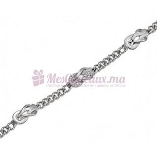 Bracelet Nœud Coulissant - Argent - Ted Lapidus D52001Z