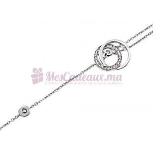 Bracelet Cercles Entrelacés - Argent - Ted Lapidus D52032Z