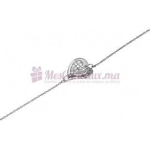 Bracelet Cœur A pierres Fines - Argent - Ted Lapidus D52040Z