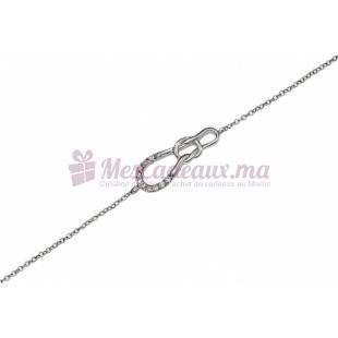 Bracelet Nœud en Argent - Ted Lapidus D52043Z