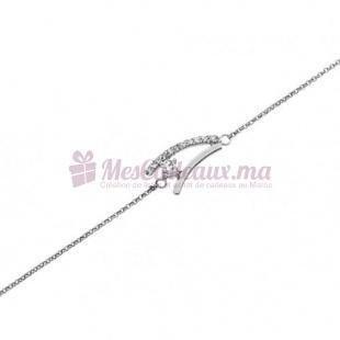 Bracelet Motif en A - Argent - Ted Lapidus D52045Z