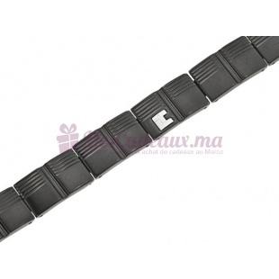 Bracelet Carreaux Enchainés Gris - Ted Lapidus Dh51034N
