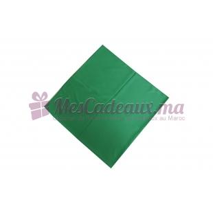 Foulard uni effet 100% soie - Vert roi