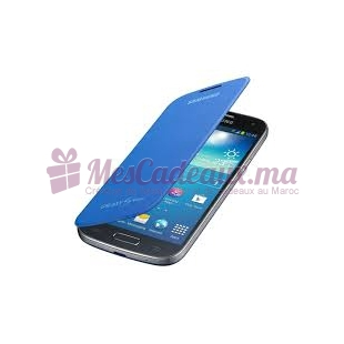 FLIP COVER S4 MINI BLEU