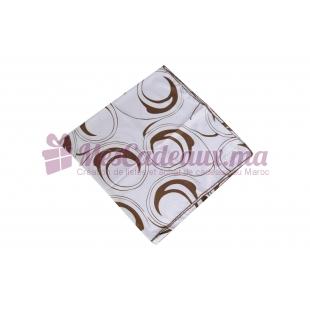 Foulard imprimé effet 100% soie - marron