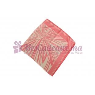 Foulard imprimé effet 100% soie - Motifs traits