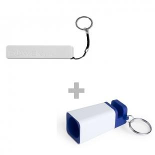 Pack Power Bank stick + haut-parleurs porte-clés holys