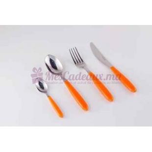 Menagère en métal acrylique - orange