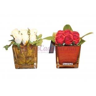 Mini Rose Dans Un Vase - Daniele Roche