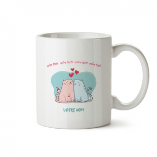 Mug Cats Love