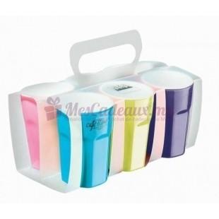 Pack 6 Mugs en couleur assorties - Grazy Mug - ASA Selection