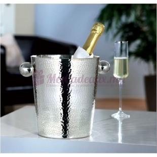 Seau à champagne en Métal Argenté martelé - Fink