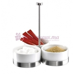 Serviteur 3 coupelles blanc - Porcelaine