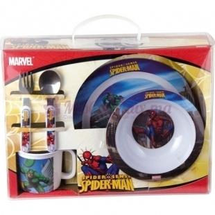Set Petit Déjeuner Spider-Man avec sa Boîte Cadeau - Disney