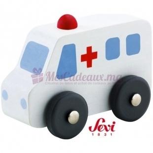 Ambulance En Bois - Sevi - 6.5 cm