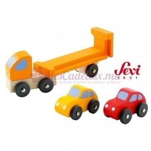 Camion Remorque Avec Voitures - Sevi - 15 cm
