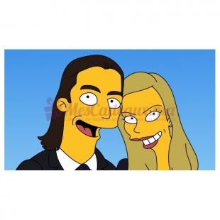 Dessin Simpson pour couple Express