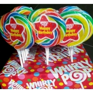 Sucette Whirly pop Happy Birthday