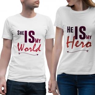 T-shirts assortis amoureux