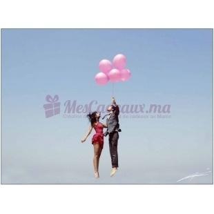 Des ballons en l'air (Photographie d'un artiste Marocain)
