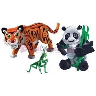 Tigre et Panda  (jeu de construction) - Blocotoys