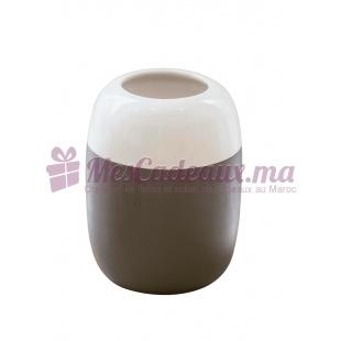 Vase bicolore gris en céramique