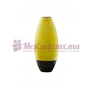 Vase en arc bicolore jaune