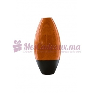 Vase en arc bicolore orange