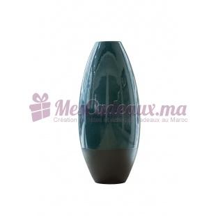 Vase en arc bicolore vert