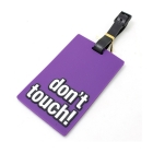 Étiquette bagage don't touch! Violet